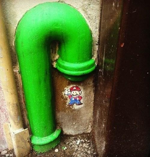 Street Art,hacked irl,Super Mario bros,nintendo