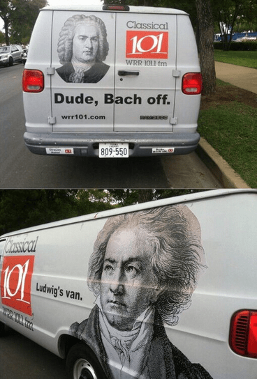 advertising Beethoven Music van similar sounding Bach back off classical - 7102003456