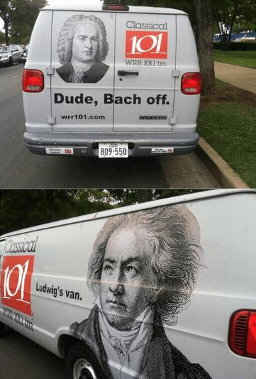 advertising Beethoven Music van similar sounding Bach classical - 7102003456