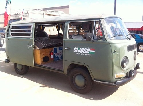 cars van GI Joe paint job