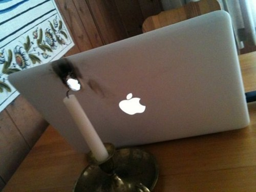 candle mac apple laptop