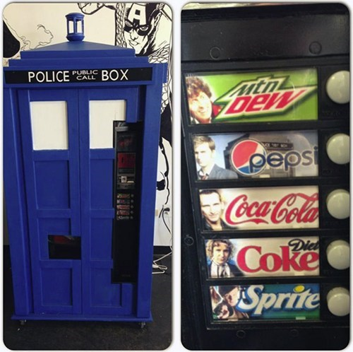 soda,nerdgasm,doctor who,vending machine,g rated,win