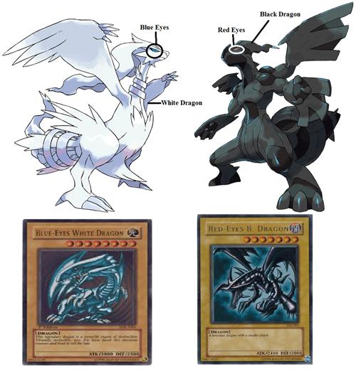 Pokémon zekrom Yu Gi Oh reshiram - 7102081024