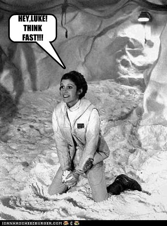 star wars,snowball,Hoth,carrie fisher,Princess Leia