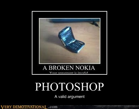 PHOTOSHOP A valid argument