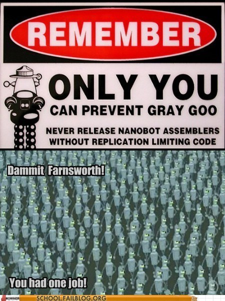 gray goo robot prof-farnsworth science - 7102608640