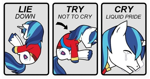 try not to cry,liquid pride,shining armor,Memes