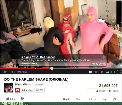 youtube cancer harlem shake - 7102780928