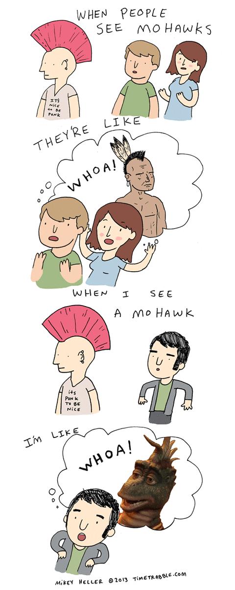 mohawks comics dinosaurs