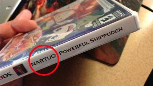 nintendo 3ds,you had one job,naruto,misspelling