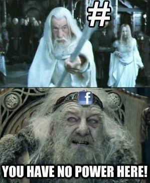 you have no power here twitter Lord of the Rings hashtags gandalf Theoden failbook g rated