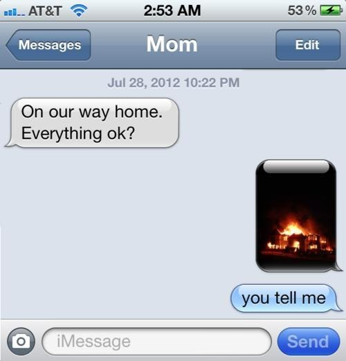 texts,fire,mom,sms