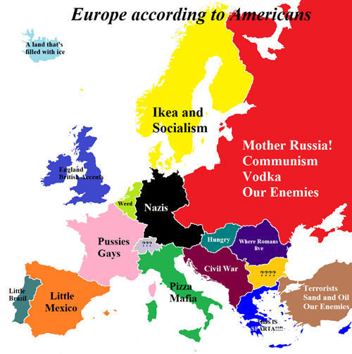 european map america countries
