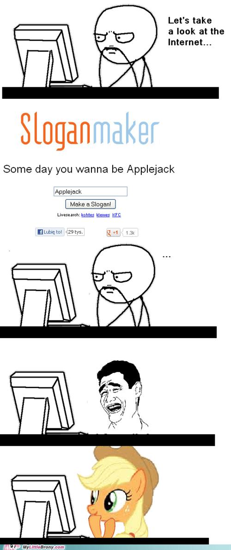 applejack sloganmaker - 7104145664