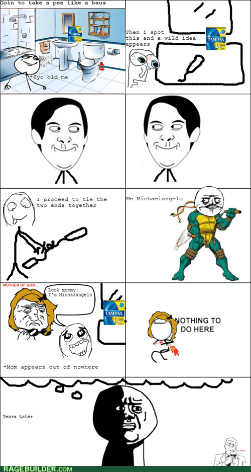TMNT michelangelo oh god why tampons - 7104216832