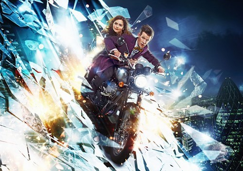 clara oswin oswald,the doctor,jenna-louise coleman,Matt Smith,doctor who,motorcycle