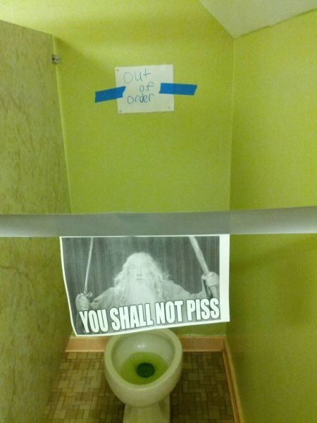 Lord of the Rings,signs,peetimes,you shall not pass