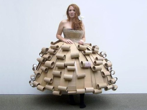 homemade clothes,dress,cardboard