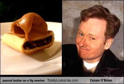 TLL peanut butter on a fig newton conan o' brien