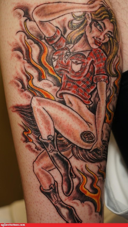 leg tattoos cowgirls - 7104630784