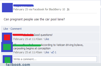 carpool lane hov lane jesus christ vatican failbook