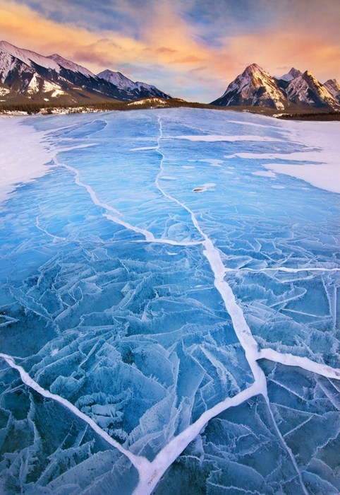 ice,winter,pretty colors,lake