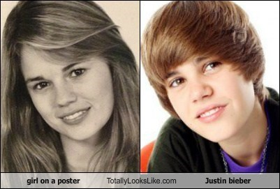 girl on a poster Totally Looks Like Justin bieber