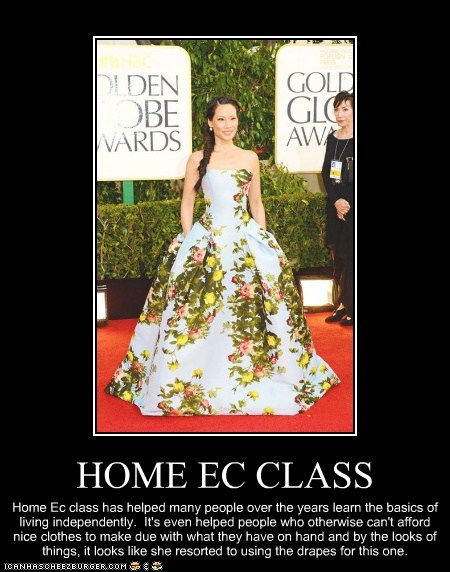home ec,drapes,dress,lucy liu