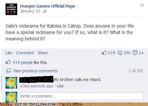 brother hunger games facebook nickname