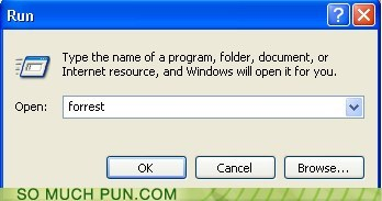 Forrest Gump,OS,run,windows,Command,double meaning