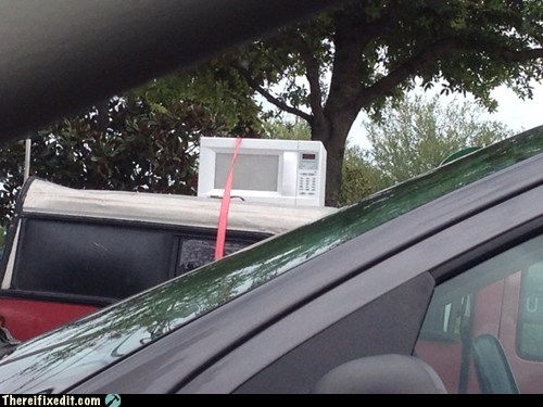 storage,roof rack,microwave