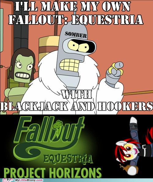 Memes,fanfics,fallout equestria,futurama