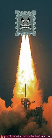 thwomp,rocket,funny