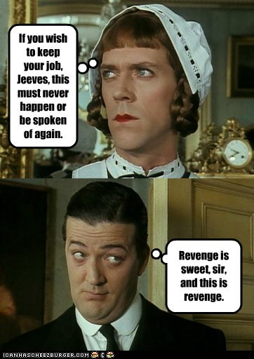 revenge Stephen Fry hugh laurie jeeves and wooster - 7107683840