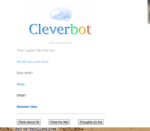 mc hammer hammer time Cleverbot - 7107814912
