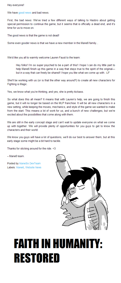 lauren faust good news mane6 fighting is magic - 7108060416