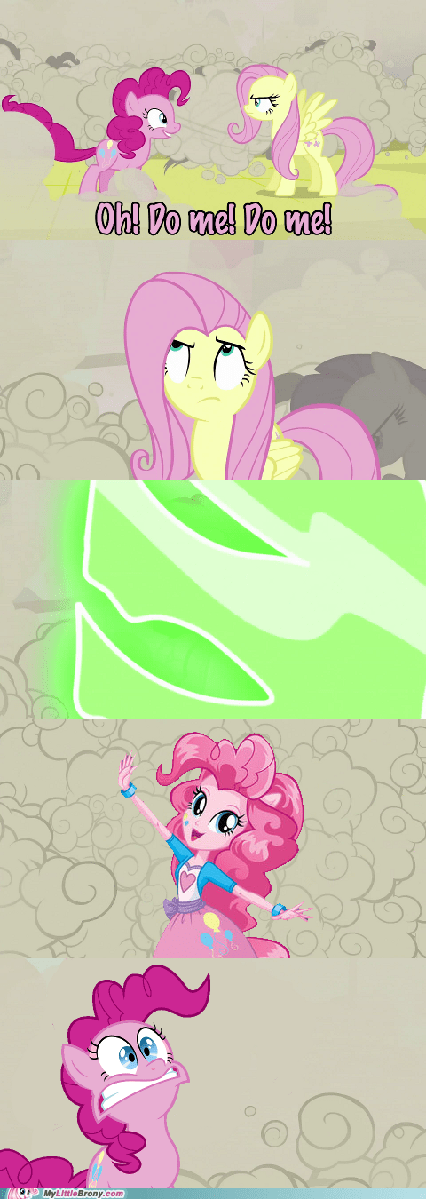 equestria girls pinkie pie fluttershy changelings - 7108368128