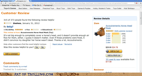 amazon review horse head mask - 7108543488