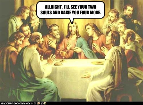jesus,bluffing,halo,poker