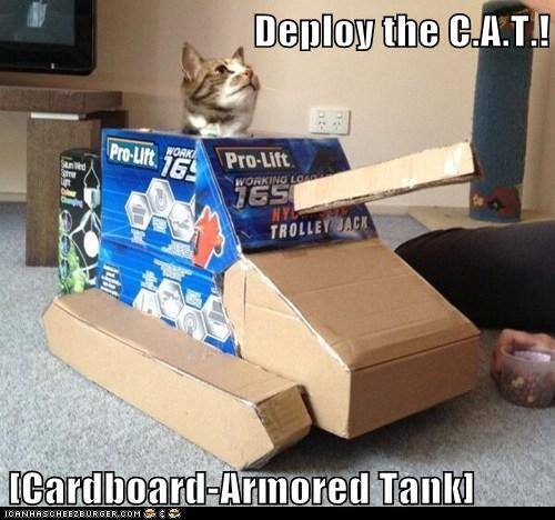 Deploy the C.A.T.! [Cardboard-Armored Tank]
