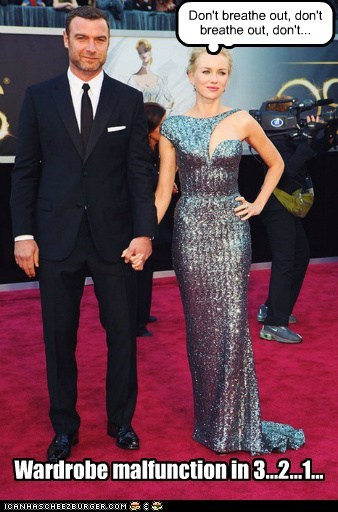 liev schreiber naomi watts too tight wardrobe malfunction dress oscars - 7109555200