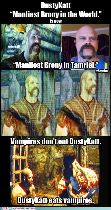 Manliest Brony Meets Skyrim