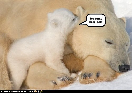 want polar bears sleeping coca cola - 7110193664
