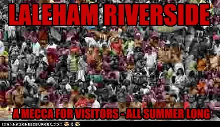LALEHAM RIVERSIDE A MECCA FOR VISITORS - ALL SUMMER LONG