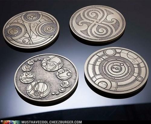 coasters gallifreyan doctor who - 7110948608