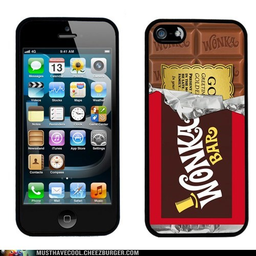 chocolate bar,case,iphone,Willy Wonka