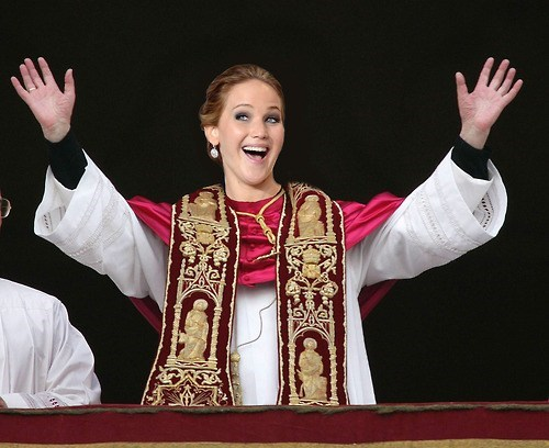 religion pope jennifer lawrence - 7111069696