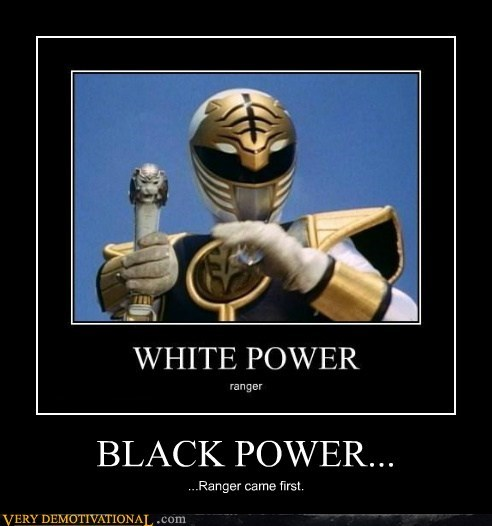 white racist power ranger black - 7111153920