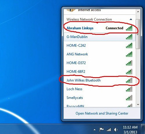 abraham lincoln,wireless network,neighbor