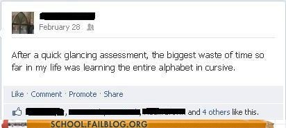 learning,facebook,cursive